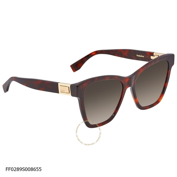 Peekaboo Brown Shaded Square Ladies Sunglasses
