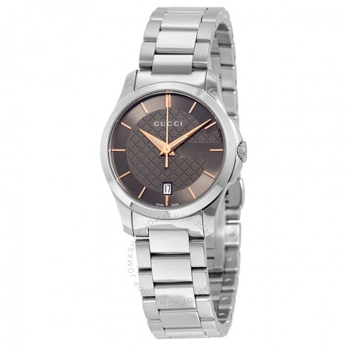 Đồng Hồ Gucci YA126529 G-Timeless Brown Dial Stainless Steel Ladies Watch