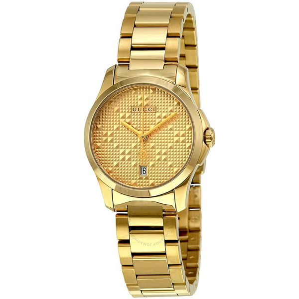 Đồng Hồ Gucci YA126553 G-Timeless Light Yellow Gold PVD Steel Ladies Watch