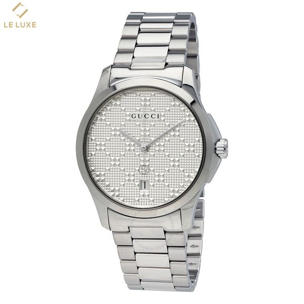 ĐỒNG HỒ GUCCI YA126459 G-TIMELESS SILVER DIAL STAINLESS STEEL UNISEX WATCH