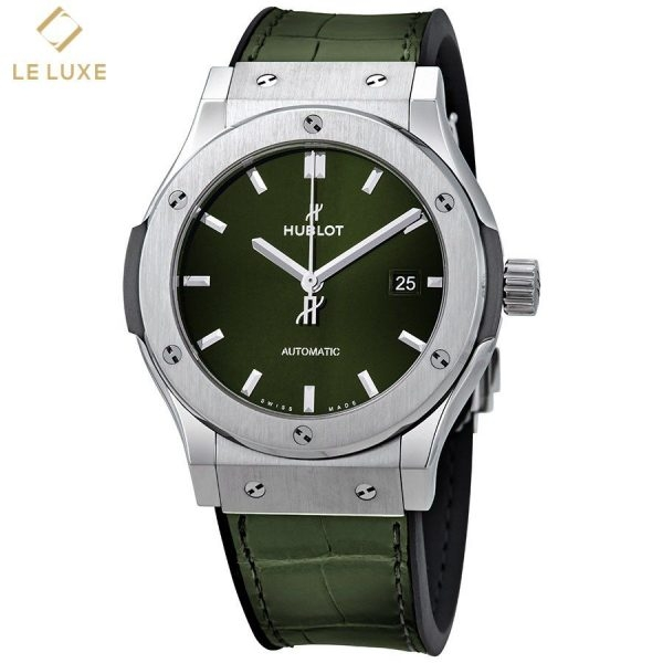ĐỒNG HỒ HUBLOT 542.NX.8970.LR CLASSIC FUSION GREEN SUNRAY DIAL AUTOMATIC MEN'S WATCH