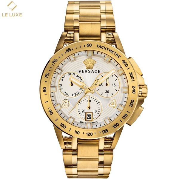ĐỒNG HỒ VERSACE SPORT TECH MENS CHRONOGRAPH WHITE & GOLD WATCH