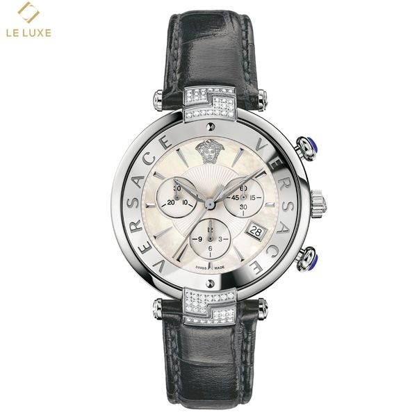 ĐỒNG HỒ VERSACE RÊVIVE CHRONO BLACK LEATHER WATCH
