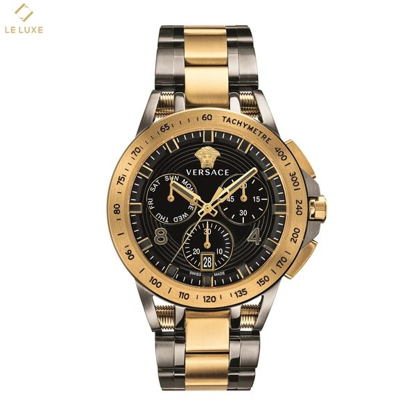 ĐỒNG HỒ VERSACE SPORT TECH MENS CHRONOGRAPH BLACK & GOLD WATCH