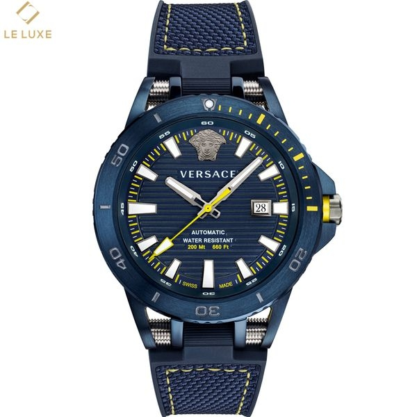 ĐỒNG HỒ VERSACE SPORT TECH DIVER MEN'S BLUE SILICONE STRAP WATCH