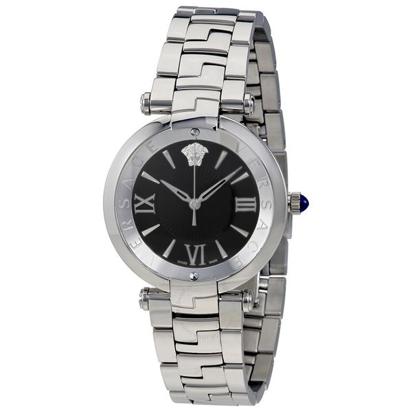 Đồng Hồ Versace VAI040016 Revive Black Dial Ladies Steel Watch