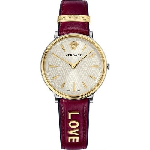 Đồng Hồ VERSACE VBP020017 VERSACE V-CIRCLE BORDEAUX LEATHER