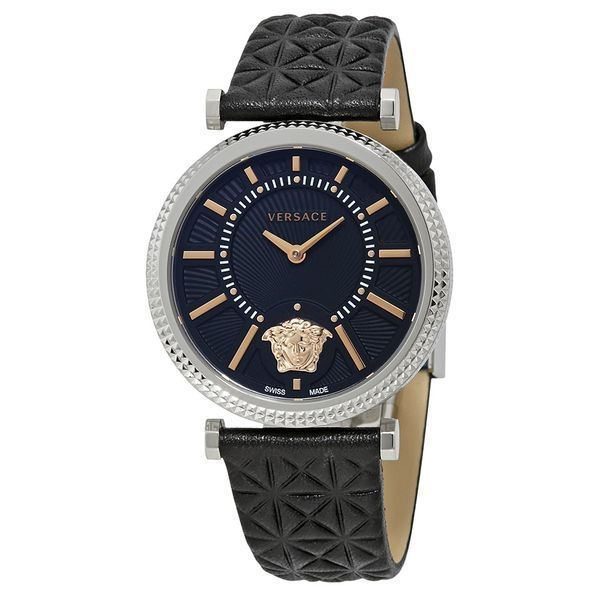 Đồng Hồ Versace VQG020015 V-Helix Black Dial Leather Ladies Watch