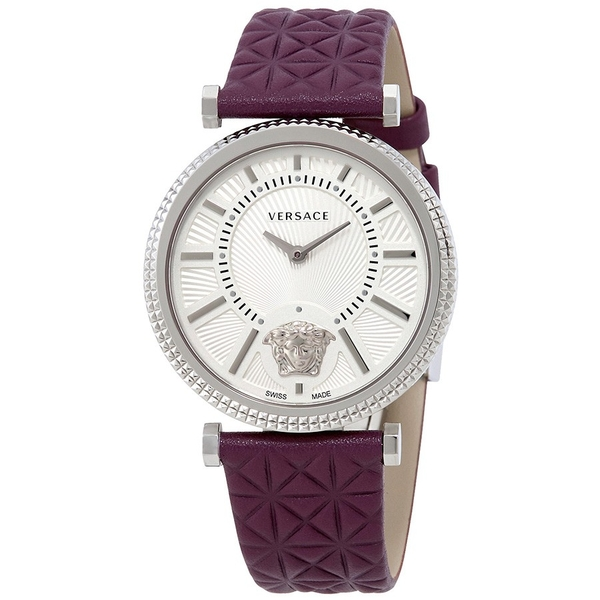 Đồng Hồ Versace VQG010015 V-Helix Ivory Dial Leather Ladies Watch