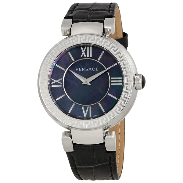 Đồng Hồ Versace VNC180017 Leda Black Mother of Pearl Dial Ladies Leather Watch