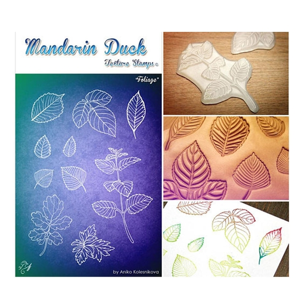 Silicone in họa tiết Madarin Duck - Texture Stamps - Foliage
