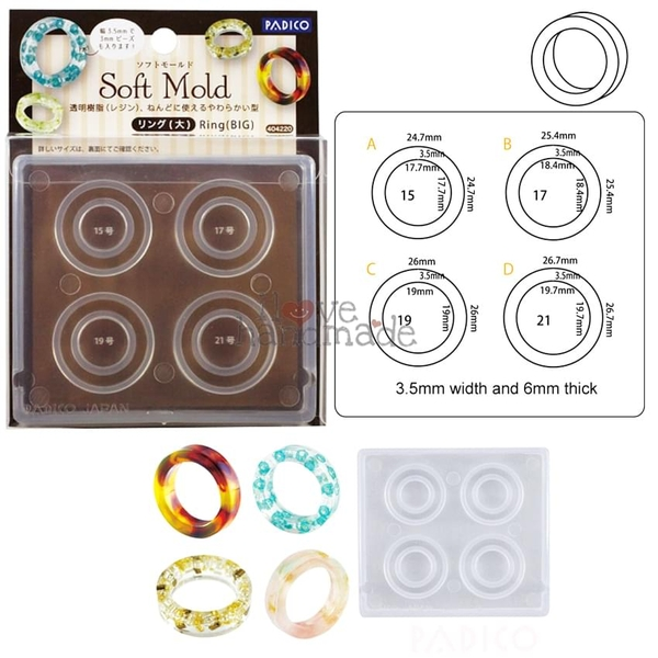 Khuôn nhẫn resin (size to) - Soft Mold Ring (Big size)
