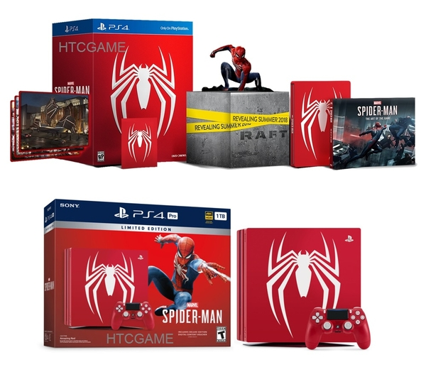 bundle-bo-may-choi-game-ps4-pro-spider-man-limited-bo-tuong-collector-s-edition