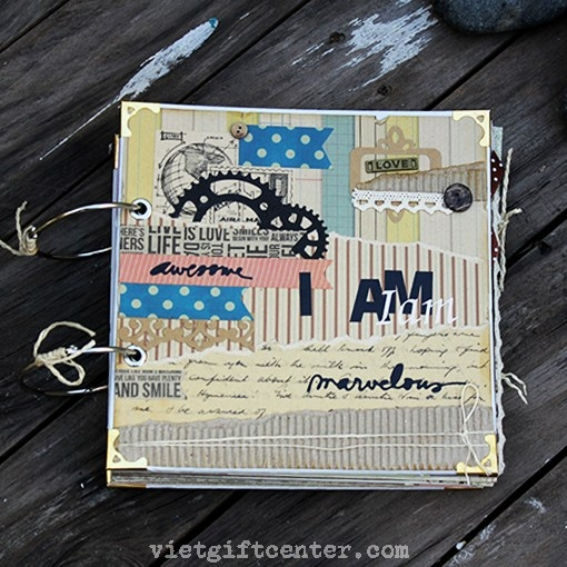 Album ảnh handmade home scrapbook