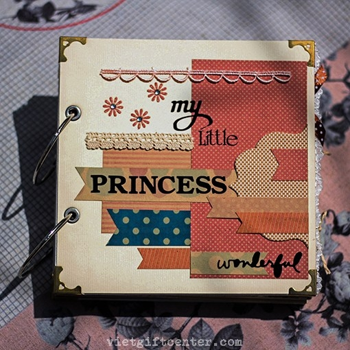 Album handmade bé gái BEAUTIFUL PRINCESS