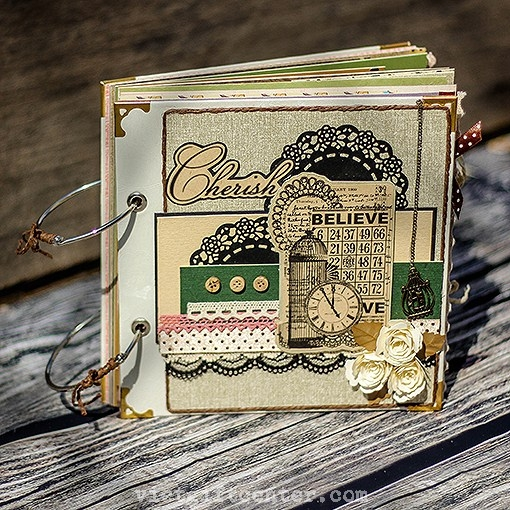 Scrapbook album ảnh handmade Believe