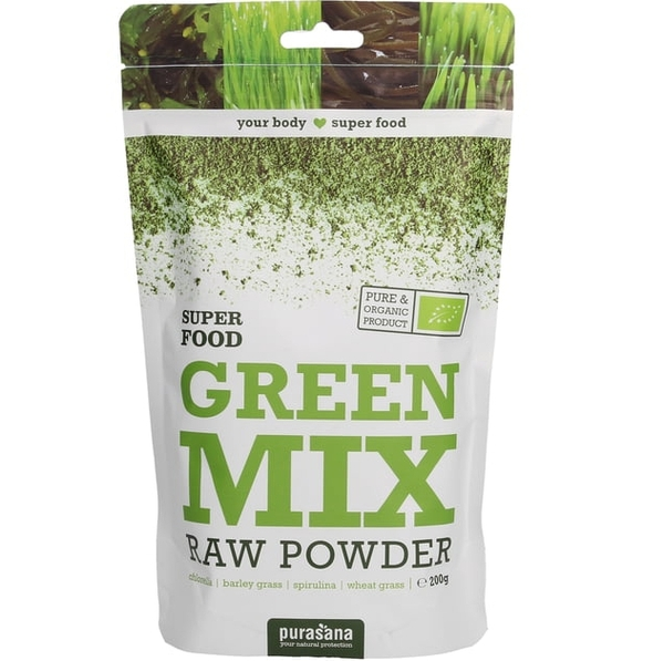Green Mix Raw Powder 200g Purasana