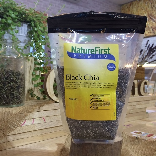 Nature First, Chia Seeds, Black 500g