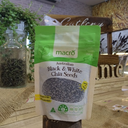 Macro Black And White Chia Seeds 150