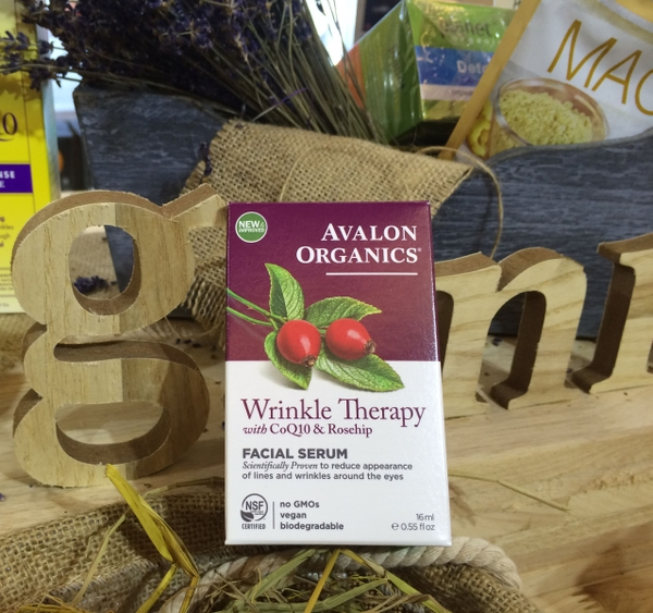 Avalon Organics - Wrinkle Therapy Facial Serum with CoQ10 & Rosehip