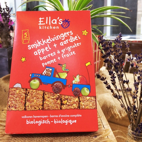 Ella's Kitchen Appel + aardbei 125g