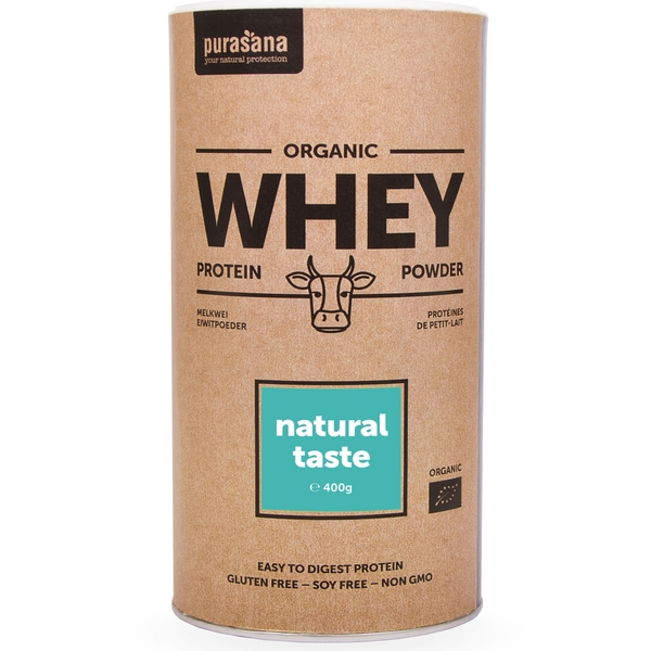 Whey Protein powder natural taste 400g Purasana