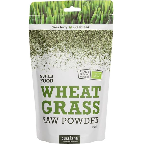 Wheat Grass Raw Powder 200gr Purasana