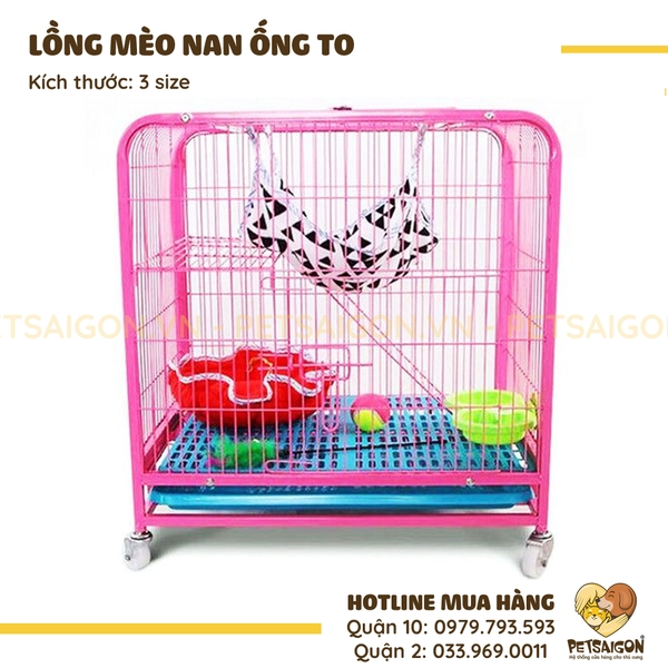 Lồng Mèo Nan Ống To