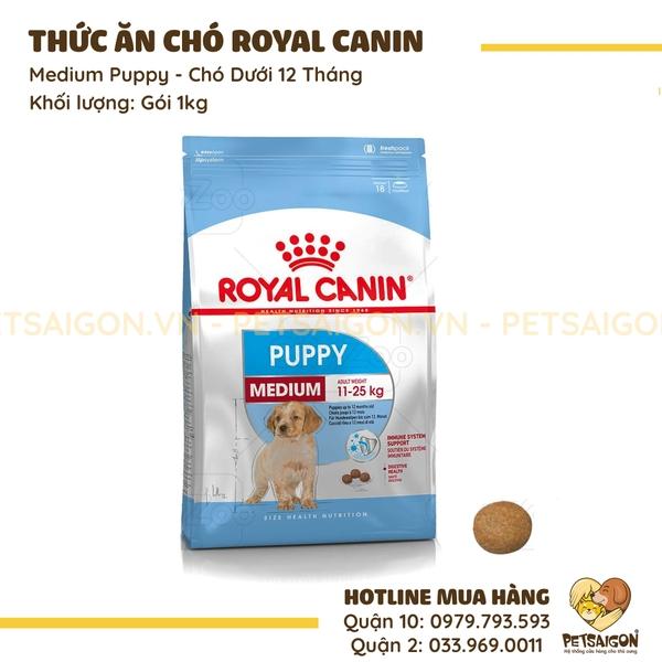 Thức Ăn Royal Canin Medium Puppy Cho Chó Dưới 12 Tháng