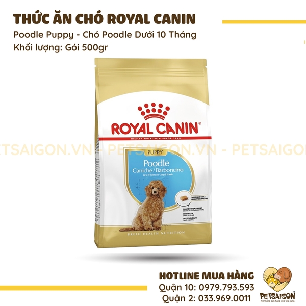 Thức Ăn Royal Canin Poodle Puppy Cho Chó Poodle Dưới 10 Tháng