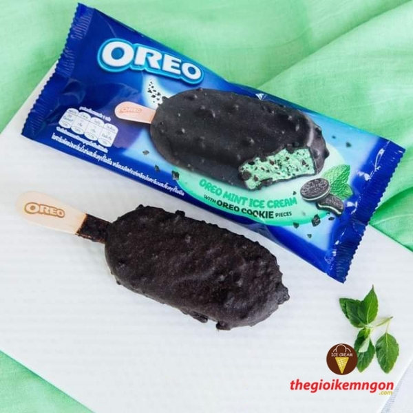 Kem bac ha oreo mint stick nestle