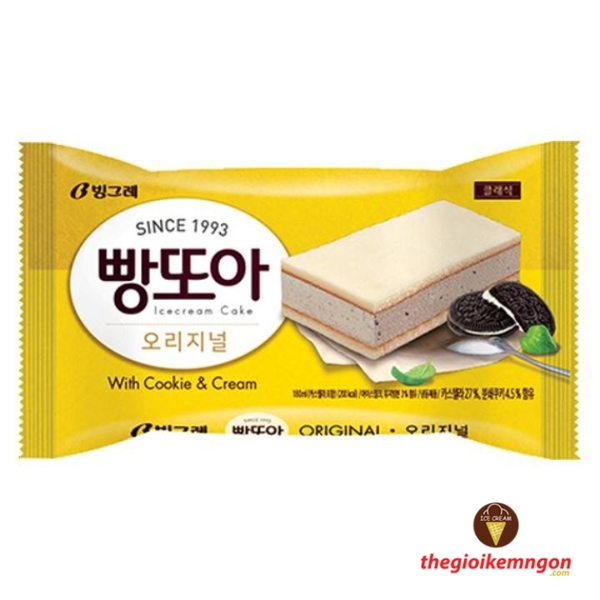 Kem pangtoa cookie & cream binggrae