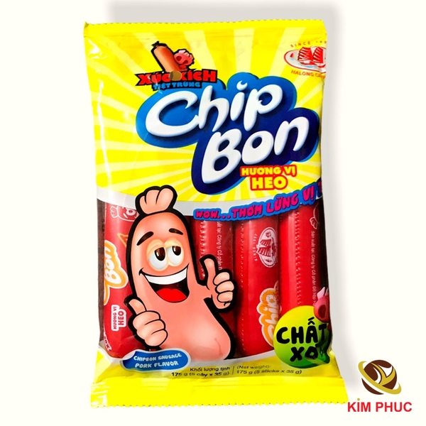 Xuc xich tiet trung chipbon ha long canfoco 175g