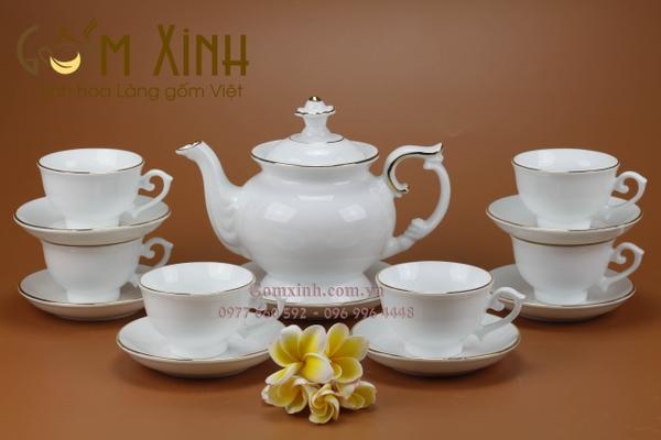 Bộ bình trà Bát Tràng đẹp