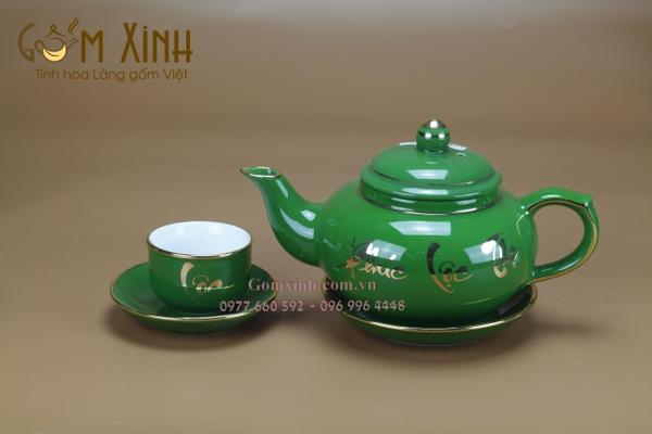 bộ bình trà sứ bát tràng cao cấp