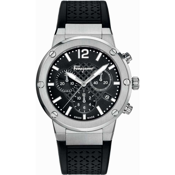 SALVATORE FERRAGAMO FIH010015 F-80 CHRONO ANALOG DISPLAY QUARTZ 39-43MM