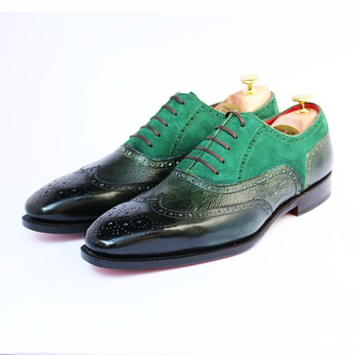 Balmoral Wingtip Oxford - Green/Patina