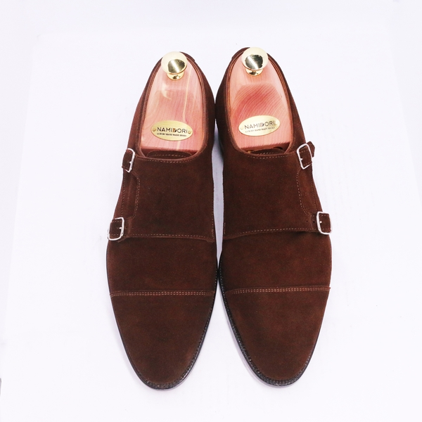 Cap Toe Double Monk SL00 Suede