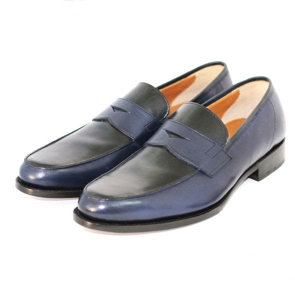 PENNY LOAFER BL07 NAVY/BLACK