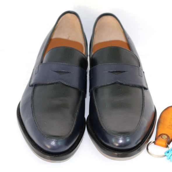 PENNY LOAFER NAVY/BLACK