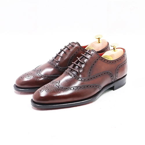 WINGTIP OXFORD LEATHER SOLE GY