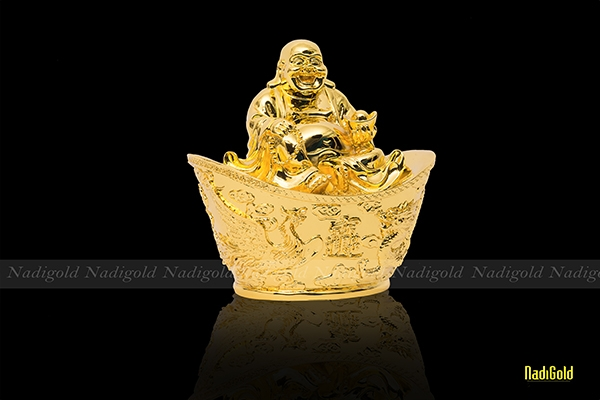 tượng phật di lặc mạ vàng
