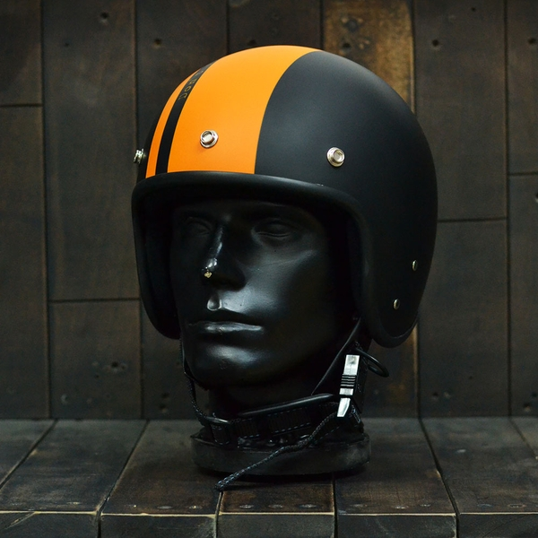 Mũ bảo hiểm 3/4 Andes 111 Ride Matt Black Orange