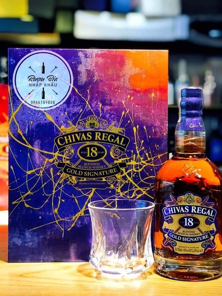 Rượu Chivas Regal 18YO gift box 2021