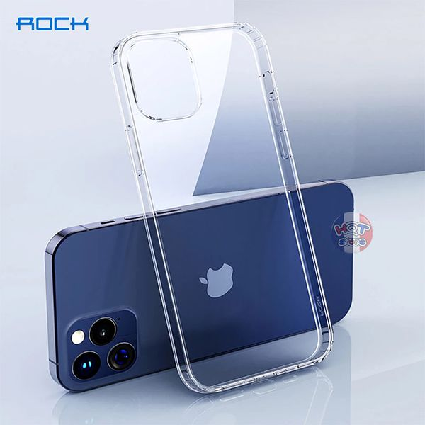 Ốp lưng trong suốt Rock Pure cho Iphone 12 Pro Max / 12 Pro / 12
