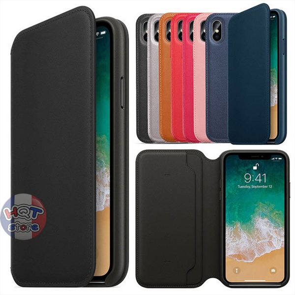 Bao da Leather Folio Case cho Iphone XS Max / XS / X