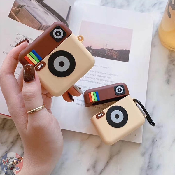 Ốp Silicon Case Instagram cho tai nghe Airpods 1 / 2