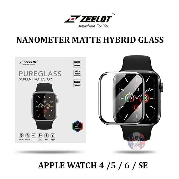 Cường lực dẻo ZEELOT Nanometer Matte Hybrid Glass Apple Watch 4 5 6 SE