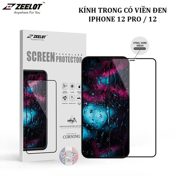 Kính cường lực ZEELOT 2.5D Steel Wire HD Clear cho IPhone 12 Pro / 12