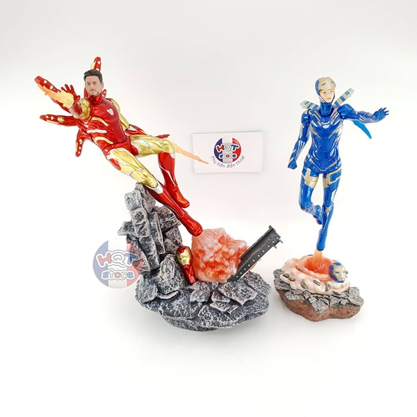 Mô hình iRon Man Mark 85 and Recuse Endgame Figure tỉ lệ 1/10